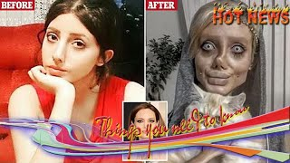 Breaking News One -  Angelina Jolie fan Sahar Tabar changes face with make-up