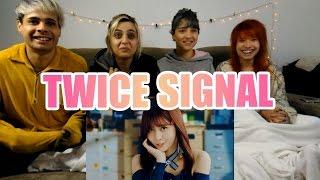 """TWICE """"SIGNAL"""" MV Reaction (IN PAJAMAS)"""