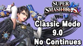 Super Smash Bros. For Wii U (Classic Mode 9.0 No Continues | Bayonetta) 60fps