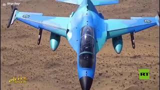 رئيس تركمانستان يختبر بنفسه طائرة مقاتلة