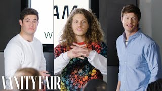 Workaholics Cast Improvises a PowerPoint Presentation   Vanity Fair