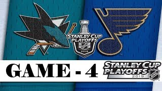 San Jose Sharks vs St. Louis Blues | Western Conference final | Game 4 | NHL 2018/19 | Обзор матча