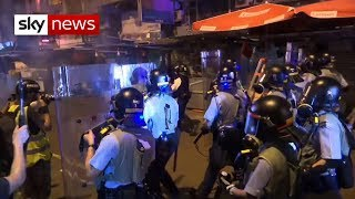 Authorities attempt to stop Hong Kong protests