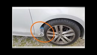Warning! Horrible New Trick: If You See Plastic Bottle On Your Tire, You Are At Risk