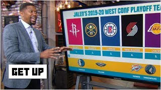 The Rockets and Nuggets top Jalen's 2019-20 Western Conference playoff teams   Get Up