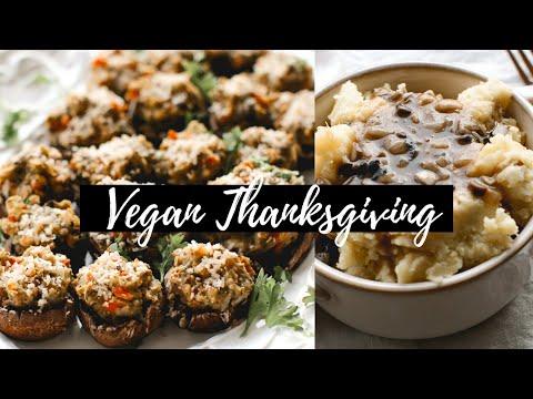 Vegan Thanksgiving Recipes! Stuffed Mushrooms / Garlic Mash N Gravy Recipes!