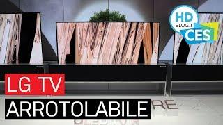 La TV OLED ARROTOLABILE di LG è realtà | CES 2019