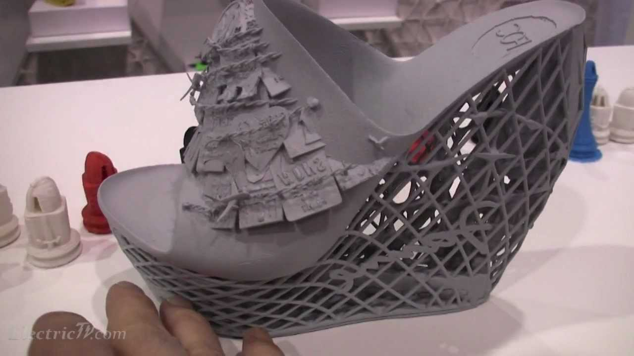 3d Printed Shoes >> Fashion Designs made with Cubify's 3D printer - YouTube