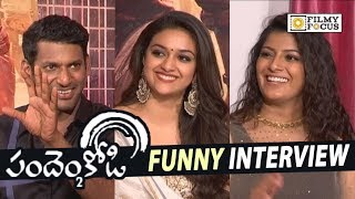 Pandem Kodi 2 Movie Team Funny Interview || Keerthy Suresh, Vishal, Vara Lakshmi - Filmyfocus.com