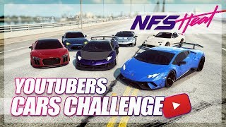 Need For Speed Heat - YouTubers Cars Challenge! (Jake Paul, Stradman, and More!)