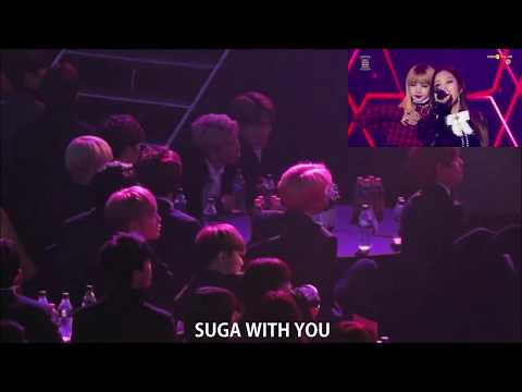 170119 BTS Reaction to BLACKPINK 불장난+붐바야 @ SMA
