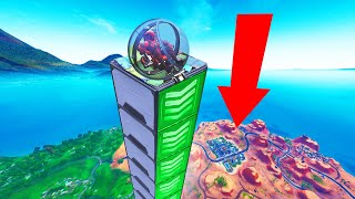 How FAR Can A BALLER FLY In FORTNITE? (Experiment)