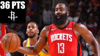 James Harden scores 36 points in Rockets' matchup with the Warriors | 2019-20 NBA Highlights