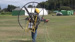 Electric paramotor-03 First flight