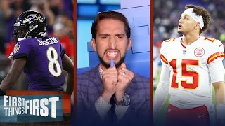 Nick Wright is in physical pain after his Chiefs fall to Ravens, 36-35 | NFL | FIRST THINGS FIRST