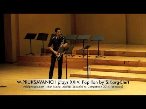 W PRUKSAVANICH plays XXIV Papillon by S Karg Elert