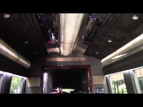 10 Passenger Mercedes   Limo Interior