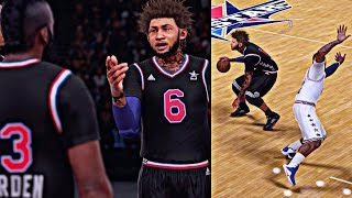 NBA 2K16 MyCAREER - CRAZY ALL STAR GAME | BREAKING LeBron James Ankles ! And Last Second Game Winner