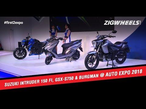 Suzuki Intruder 150 FI, GSX-S750 And Burgman At Auto Expo 2018