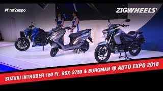 Suzuki Intruder 150 FI, GSX-S750 And Burgman At Auto Expo 2018