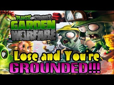 Plants Vs. Zombies Garden Warfare - Lose And You're Grounded!!! (Team Vanquish) - Smashpipe Games