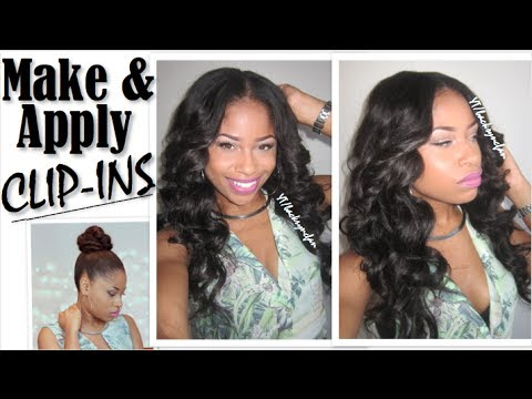 How to make amp apply clip ins full head install valencia rose hair