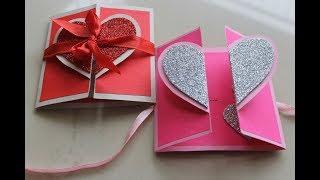 DIY Heart Greeting Card / Handmade Card Tutorial