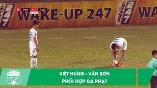 Pha đá phạt thú vị của Việt Hưng - Văn Sơn   Viettel vs HAGL   Vòng 9 V.League 2019