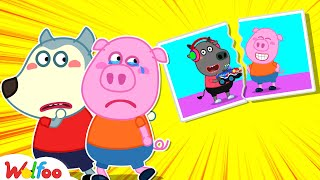 Piggy, Don't Cry, It's OK! Wolfoo Is Always by Your Side | Wolfoo Family Kids Cartoon
