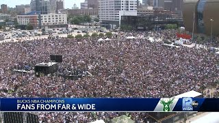Fans come from far and wide for Bucks victory celebration