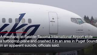 'Suicidal' airline employee steals plane outside Seattle