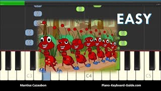 The Ants Go Marching One By One Easy Piano Tutorial
