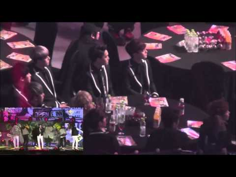 EXO's Reaction to Bangtan's (방탄소년단) Perf. @ Seoul Music Awards 140123