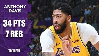 Anthony Davis shines with 34 points for Lakers vs. Thunder | 2019-2020 NBA Highlights