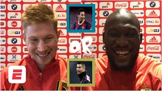 Old Trafford or Anfield? Ronaldo or Messi? Lukaku & De Bruyne play 'You Have To Answer' | ESPN FC