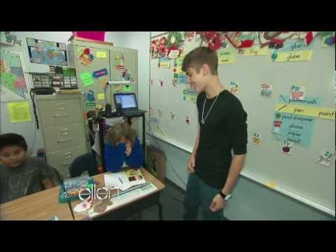 Justin Bieber Surprises a Classroom!
