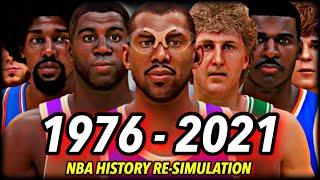 I Reset The NBA To 1976 & Re-Simulated ALL OF NBA HISTORY | CHAPTER 1: THE BEGINNING