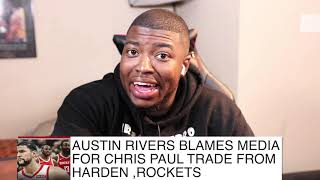 Austin Rivers Claims Media Made Beef Between James Harden & Chris Paul| FERRO REACTS SPORTS