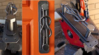 Making a Steel Knot Metal Handle - Industrial Style Handle - MIG Welding Project