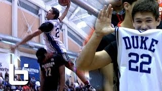 Serious Hops: Grayson Allen Jumps OVER 6'11 Jahlil Okafor Wearing Jay Williams Jersey! (Wins 2014 McDonalds All American Dunk Contest)
