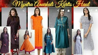 MYNTRA KURTIS UNDER 1000/ MYNTRA PARTY WEAR KURTIS TRY ON HAUL/ANARKALI KURTIS HAUL/