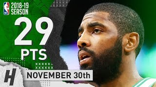 Kyrie Irving Full Highlights Celtics vs Cavaliers 2018.11.30 - 29 Pts, 4 Ast, 4 Rebounds!