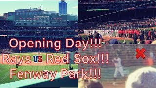 OPENING DAY FOR THE BOSTON RED SOX!!! RAYS VS RED SOX!!! WHAT AN OPENING DAY MIRACLE!!!