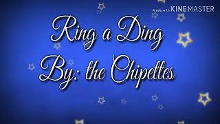 Ring a Ding By: the Chipettes
