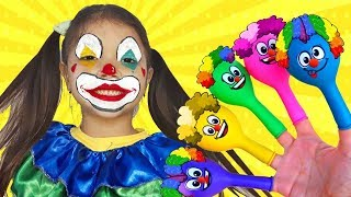 learning colors with funny clown | aprendendo as cores com palhaço divertido