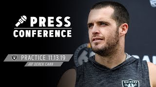 Derek Carr Is Fully Prepared for Bengals | Raiders