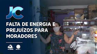 Falta de energia e prejuízos para moradores da Maraponga