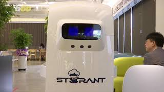 South Korean cafe follows social distancing by hiring robo..