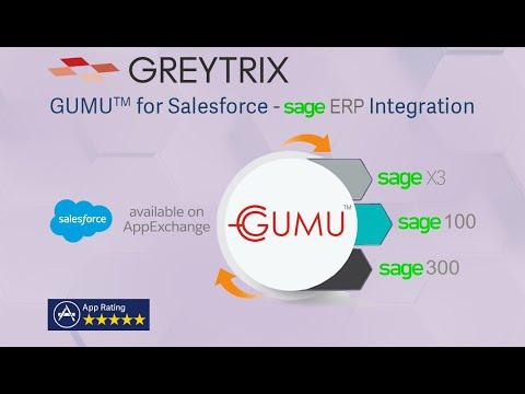 GUMU ™ Integration for Salesforce with Sage ERP