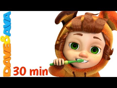 👍 Nursery Rhymes Collection: Brush Your Teeth   Healthy Habits Songs   Kids Songs from Dave and Ava👍
